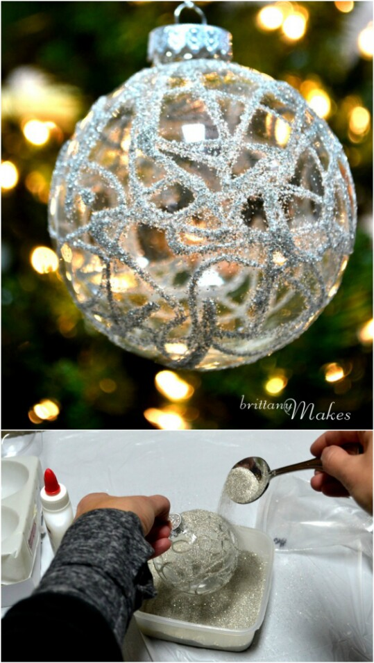 35. Sparkly Christmas Ornaments