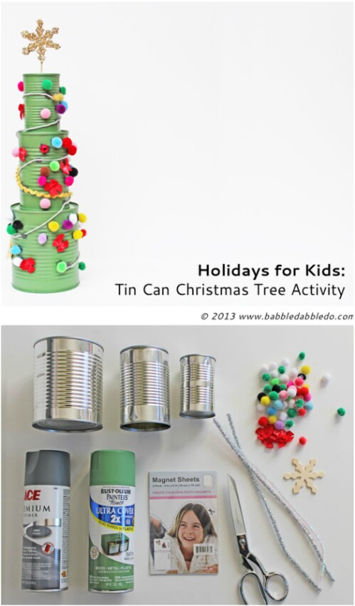Build an Eco-friendly Christmas Tree Out of Old Tin Cans