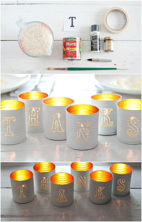 50 Jaw Dropping Ideas For Upcycling Tin Cans Into Beautiful Household Items Diy Crafts