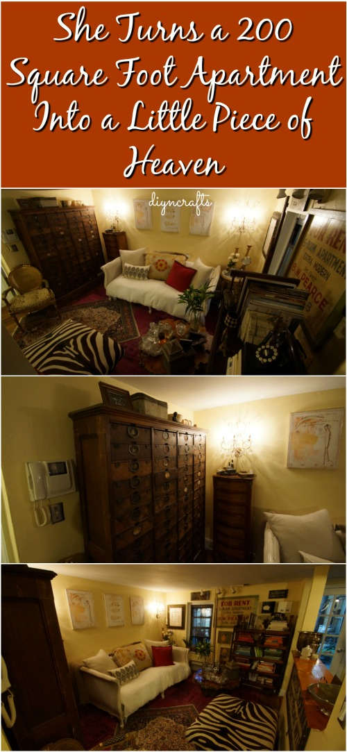 She Turns a 200 Square Foot Apartment Into a Little Piece of Heaven {Video}