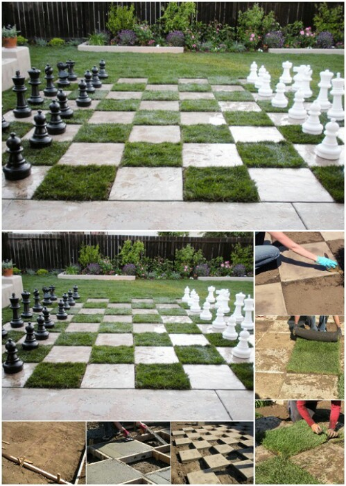 Create a Chessboard Patio