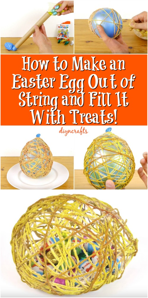 How to Make an Easter Egg Out of String and Fill It With Treats! {Video}