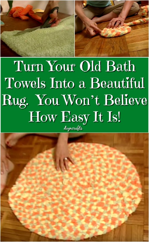 Turn Your Old Bath Towels Into a Beautiful Rug  You Won't