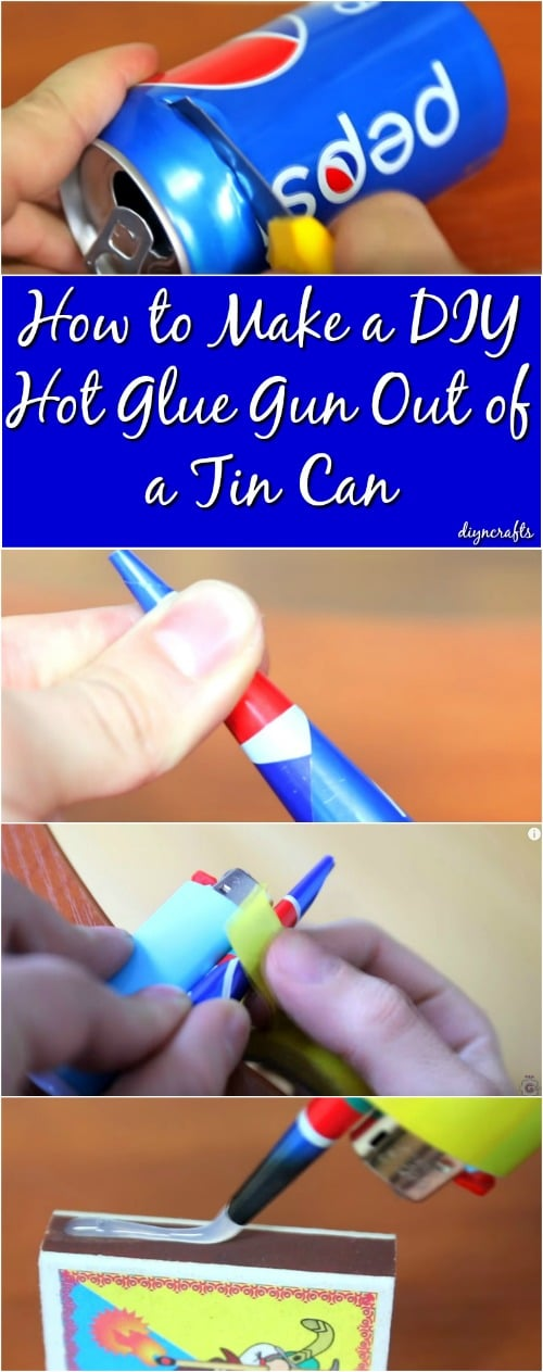 How to Make a DIY Hot Glue Gun Out of a Tin Can {Video}