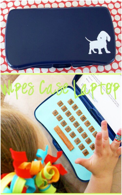 "Make a Toy ""Laptop"" For Your Child"