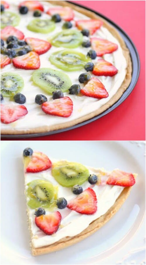 Fruit Pizza with Strawberries