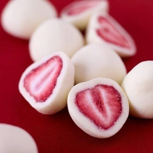 Strawberry Covered in Frozen Yogurt