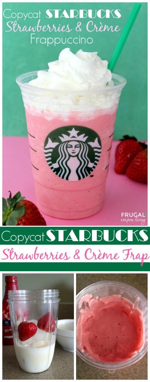 """""""Starbucks"""" Strawberries & Cream Frappuccino"""