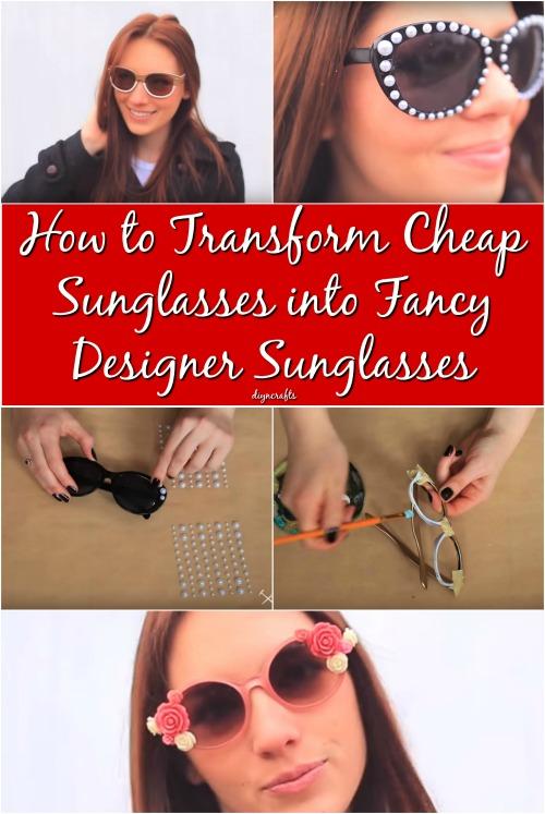 How to Transform Cheap Sunglasses into Fancy Designer Sunglasses {Video}