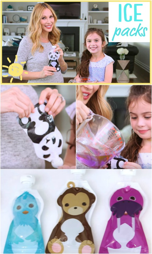 How to Make These Colorful and Personalized Gel Ice Packs for Kids {Video}