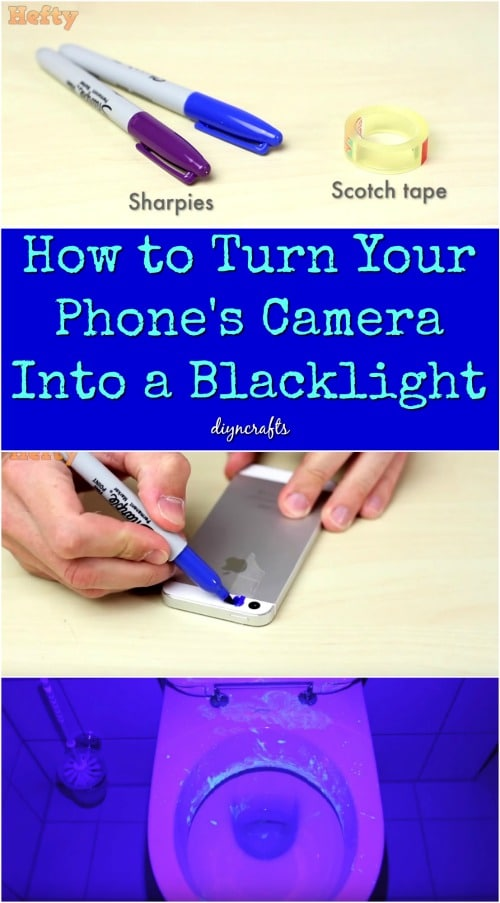 How To Turn Your Phone S Camera Into A Blacklight Diy Crafts