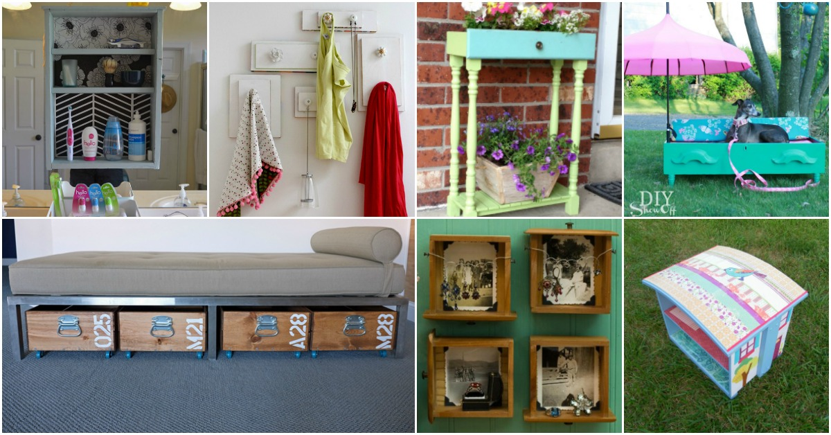 Old Drawers Diy Crafts