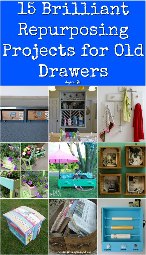 15 Brilliant Repurposing Projects For Old Drawers Diy Crafts