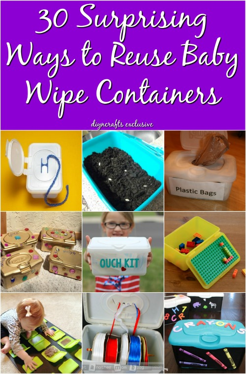 30 Surprising Ways to Reuse Baby Wipe Containers {With Tutorial Links}