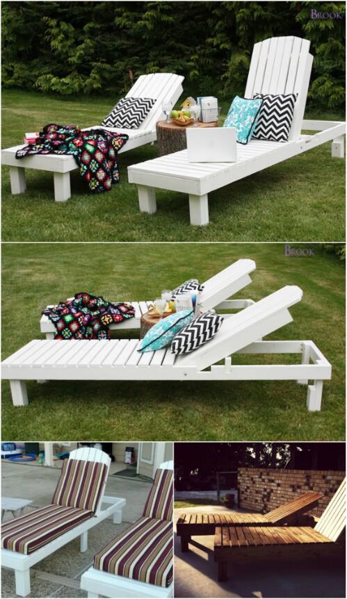 Elegant Sunbathing Loungers You Can Diy
