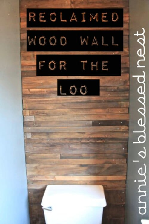 Wood Wall for the Loo