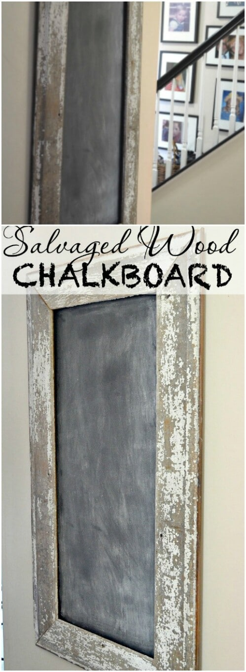 Chalkboard with Salvaged Wood Frame