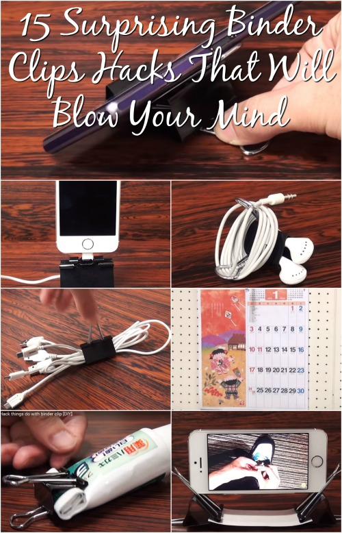 15 Surprising Binder Clips Hacks That Will Blow Your Mind {Video}