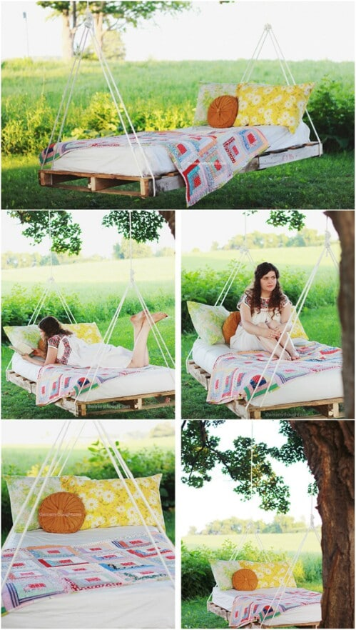 1. Relaxing Swing Bed