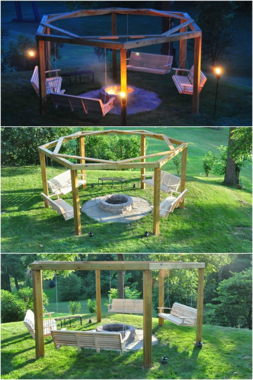10. Porch Swing Fire Pit