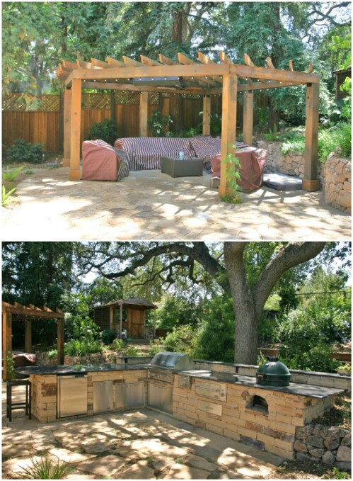Woodsy Backyard Patio