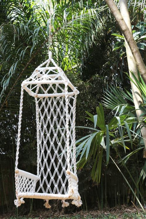 6. Macramé Garden Swing