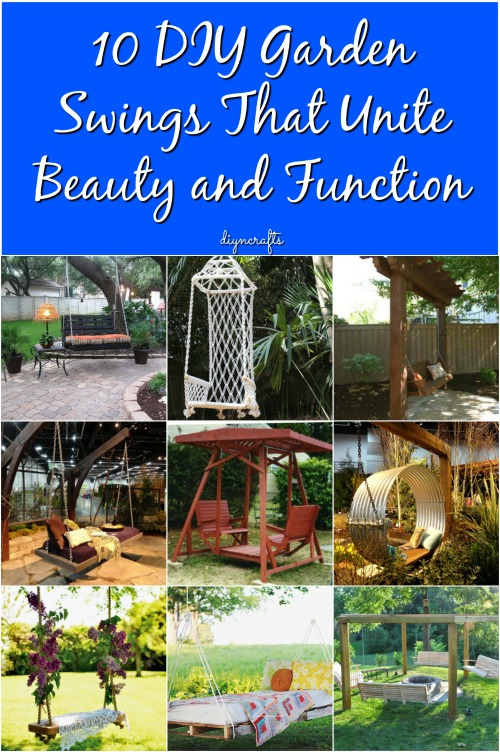 10 DIY Garden Swings That Unite Beauty and Function {DIY Roundup}