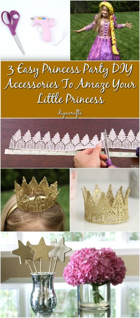 3 Easy Princess Party DIY Accessories To Amaze Your Little Princess {Video}
