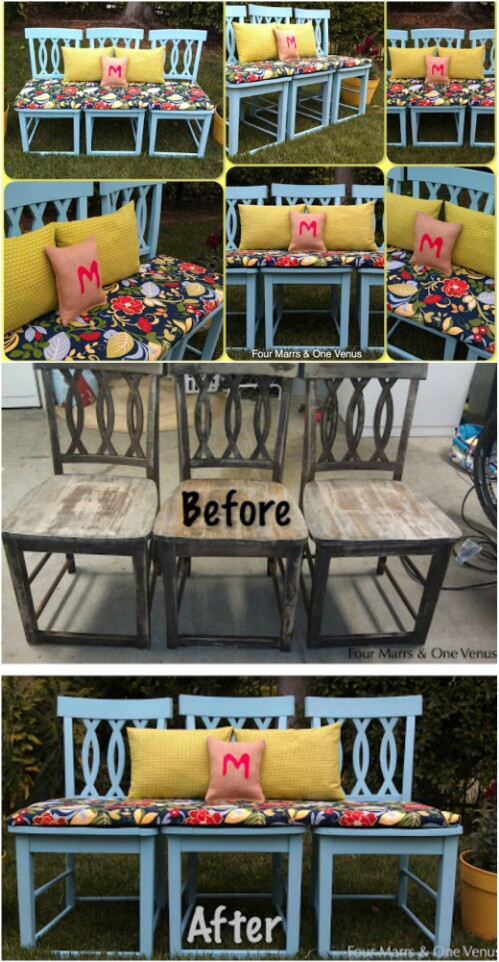Magnificent 20 Brilliantly Creative Ways To Repurpose Old Chairs Diy Machost Co Dining Chair Design Ideas Machostcouk