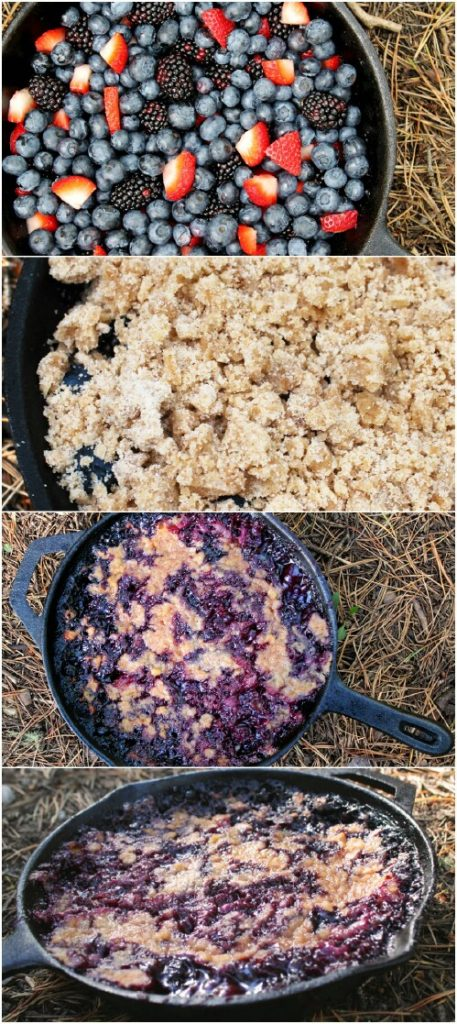 7. Triple Berry Cobbler