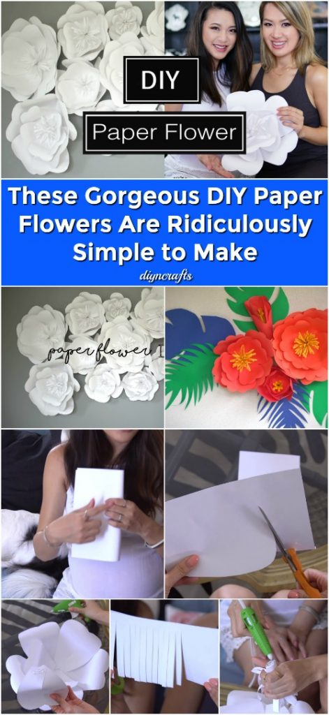 These Gorgeous DIY Paper Flowers Are Ridiculously Simple to Make {Video}