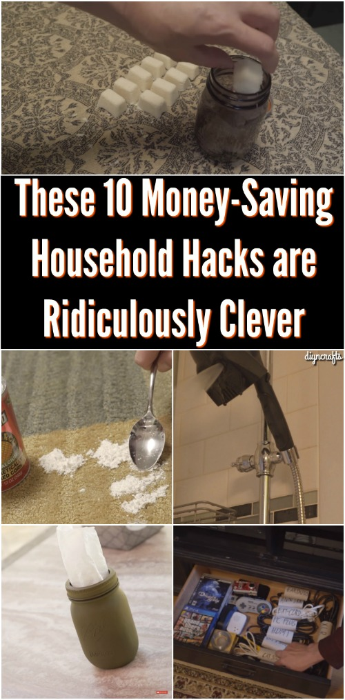 These 10 Money-Saving Household Hacks are Ridiculously Clever {Video}