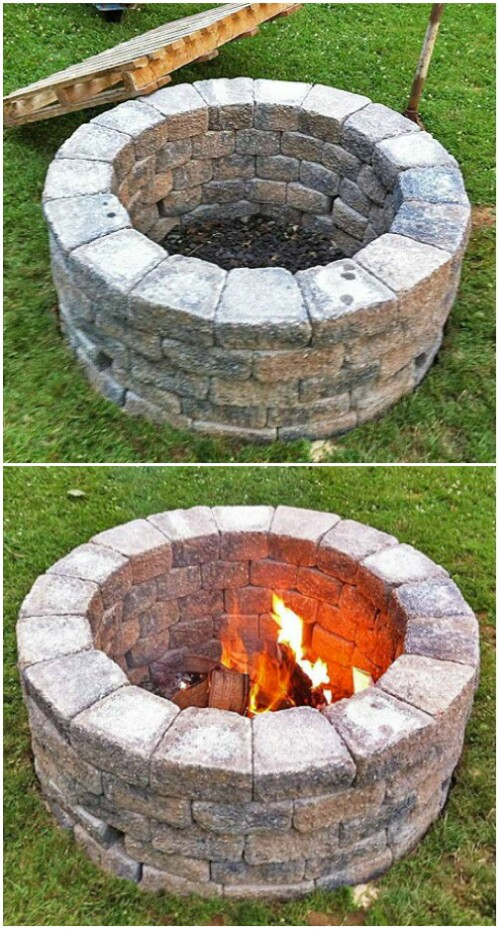 10. Build a Brick Fire Pit