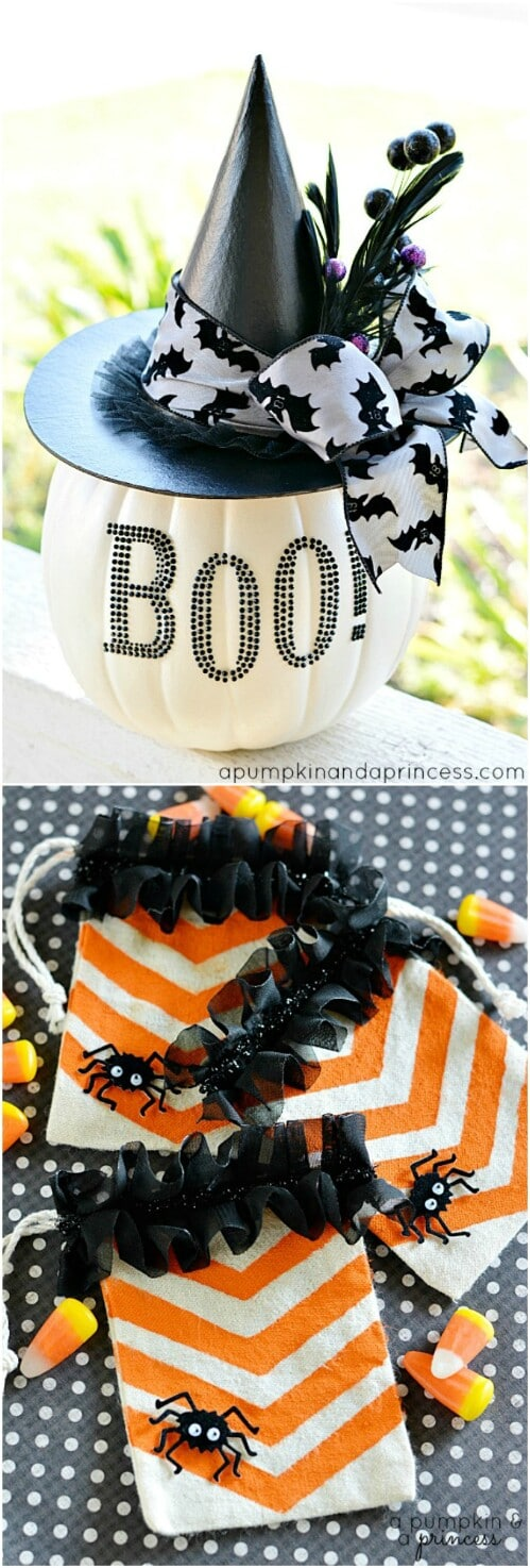 12. Black and White Glam Pumpkin