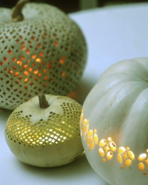 14. Lace Openwork Pumpkins