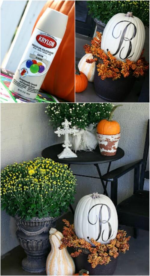 2. Monogrammed Pumpkin