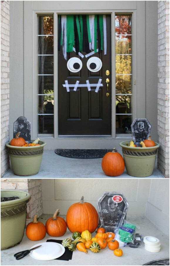 2. Halloween Monster with Streamers