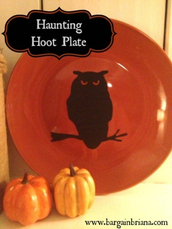 Halloween Hoot Plate