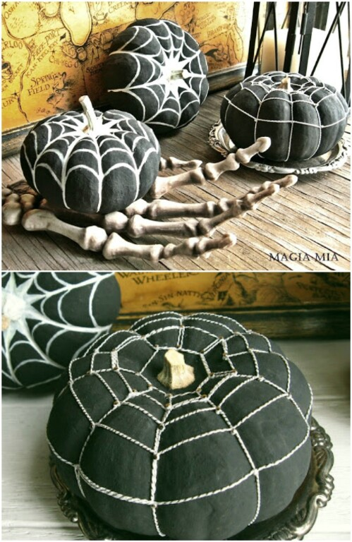 23. More Awesome Black & White Pumpkin Designs