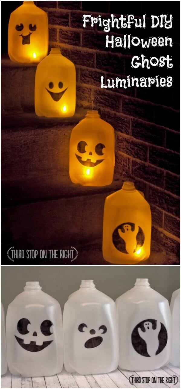 Milk Jug Luminaria