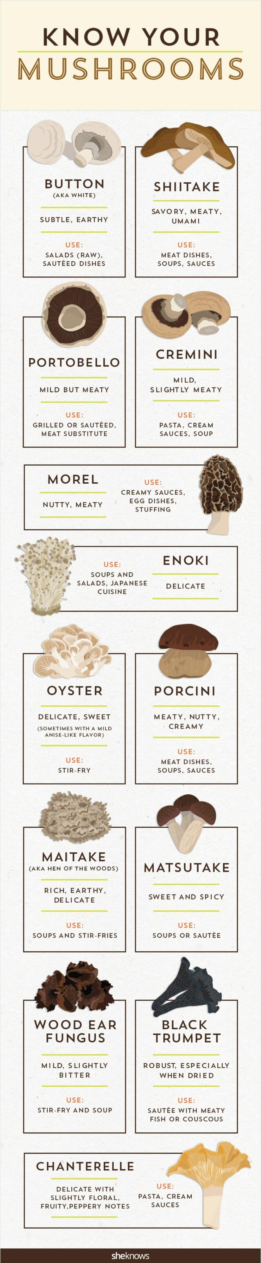 Know your mushroom taxonomy.