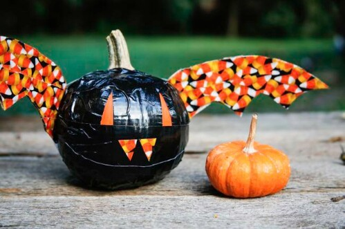 36. Duct Tape Pumpkin Bats