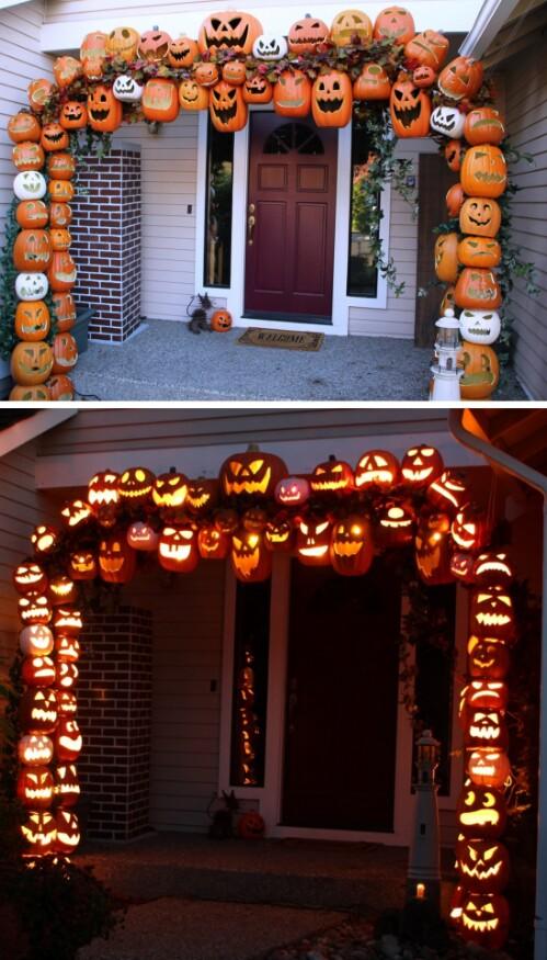5. Pumpkin Archway