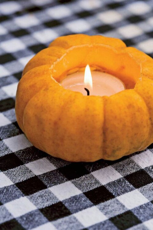 51. Pumpkin Votive Candle
