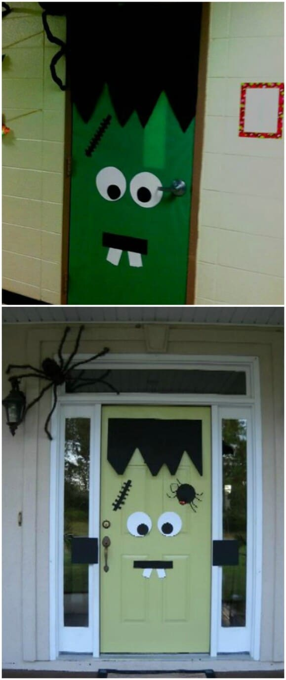 30 Monster Doors and Monster Wreaths to Greet Trick or