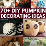 Pumpkin decorating ideas collage