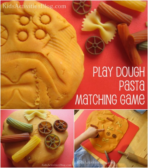 Pasta Matching Game - Fun Playdough Games, Projects, and Activities