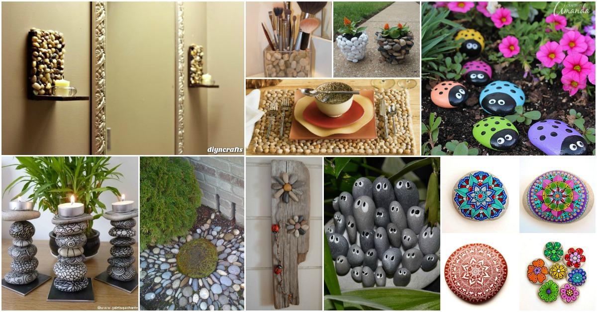 Stone Art Ideas Design Painted Pebbles