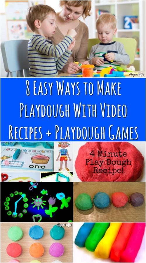 8 Easy Ways to Make Playdough With Video Recipes + Playdough Games