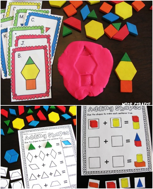 Geometric Imprints in Playdough. - Fun Playdough Games, Projects, and Activities